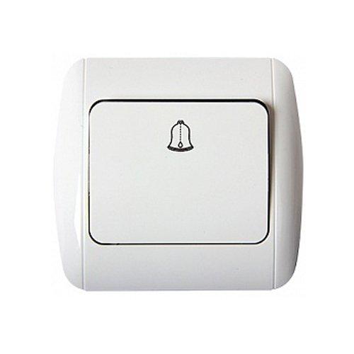 Фото Выключатель звонка с рамкой кнопочный e.install.stand.811D Электробаза