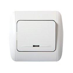 Одноклавишный выключатель с подсветкой с рамкой e.install.stand.811L