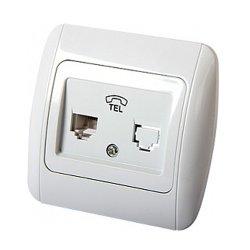 Розетка телефонная 1-я с рамкой e.install.stand.814P1