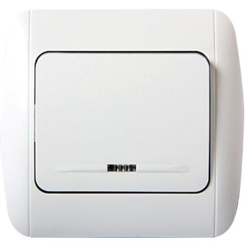 Фото Выключатель одноклавишный с подсветкой e.install.stand.811L Электробаза
