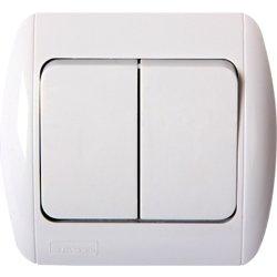 Выключатель света двухклавишный встраиваемый e.install.stand.812
