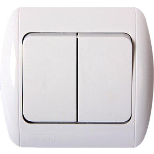 Фото Выключатель света двухклавишный встраиваемый e.install.stand.812 Электробаза