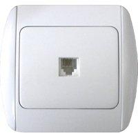 Фото Розетка телефонная одинарная с рамкой e.install.stand.814P1+