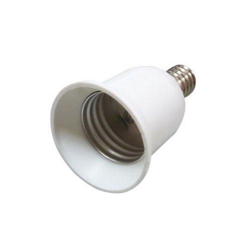 Фото Переходник с цоколя Е14 на Е27, пластиковый, белый, e.lamp adapter.Е14/Е27.white Электробаза