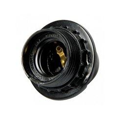 Цоколь ламп Е27 бакелитовый черный nut.E27.bk.black