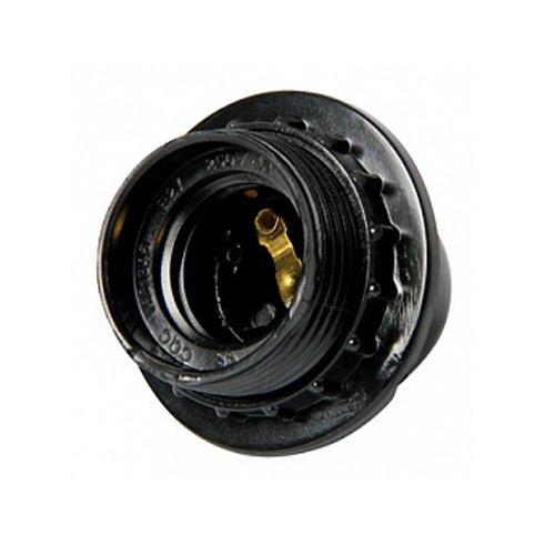 Фото Патрон для ламп Е27, бакелитовый, черный, nut.E27.bk.black Электробаза