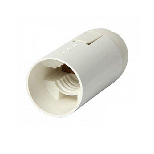 Фото Патрон электрический E14, пластиковый, белый, e.lamp socket.E14.pl.white Электробаза