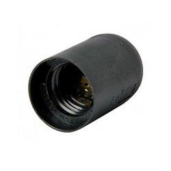 Цоколь электрический Е27 пластиковый черный e.lamp socket.E27.pl.black