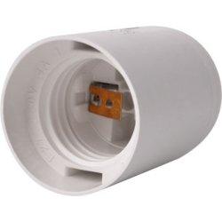 Цоколь Е27 пластиковый белый e.lamp socket.E27.pl.white