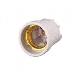 Цоколь керамический Е27 без крепления медный контакт