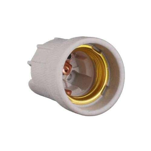 Фото Патрон керамический Е27 без крепления медный контакт (без маркировки) Электробаза