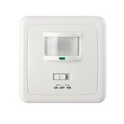 Датчик движения настенный скрытого монтажа 160° IP20 белый e.sensor.pir.01B.white