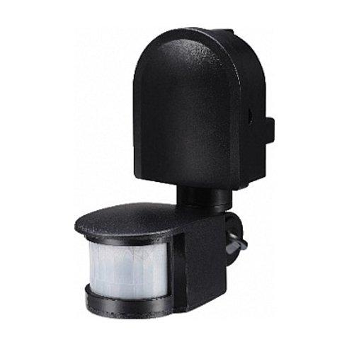 Фото Датчик движения инфракрасный 180°, IP44, черный, e.sensor.pir.10F.black Электробаза