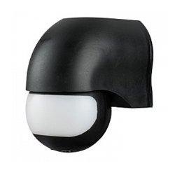 Датчик движения инфракрасный 180° IP44 черный e.sensor.pir.12.black