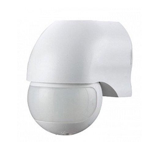 Фото Датчик движения инфракрасный 180°, IP44, белый, e.sensor.pir.12.white Электробаза