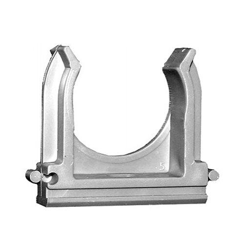 Крепеж для труб d 16мм (100шт) серый