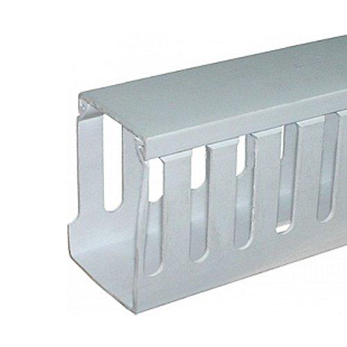 Фото Короб для проводов пластиковый, перфорированный, 40х80 мм, 2м, голубой, e.trunking.perf.stand.40.80 Электробаза