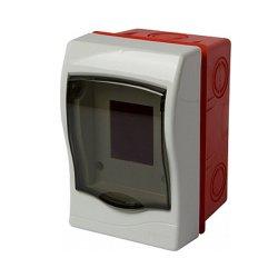 Щиток пластиковый встраиваемый, 2 модульный, e.plbox.stand.w.02