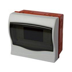 Щиток пластиковый встриваемый, 6 модульный, e.plbox.stand.w.06
