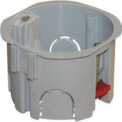 Установочная коробка гипсокартон, блочная, упор ПВХ e.db.stand.109.d65