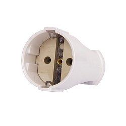 Розетка переносная 16А, с з/к, белая, e.socket.003.16.white
