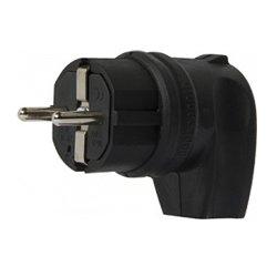 Вилка угловая 16А с з/к, e.plug.rubber.angle.027.16