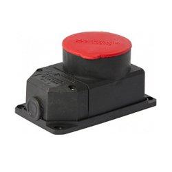 Розетка силовая 4п., 32А, с защитной крышкой, стационарная e.socket.rubber.072.32