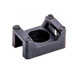 Основа под хомут кабельный, черный, 15х10 H-7 мм, d отв. 3 мм (100 шт.) e.cta.stand.15.10.black