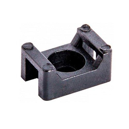 Фото Основа под хомут кабельный, черный, 15х10 H-7 мм, d отв. 3 мм (100 шт.) e.cta.stand.15.10.black Электробаза