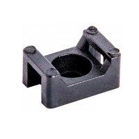 Фото Основа под хомут кабельный, черный, 22х15 H-10 мм, d отв. 5 мм (100 шт.) e.cta.stand.22.15.black