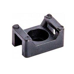 Основа под хомут кабельный, черный, 22х15 H-10 мм, d отв. 5 мм (100 шт.) e.cta.stand.22.15.black
