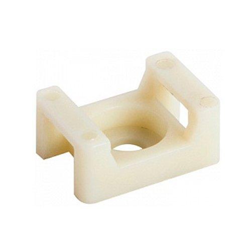 Фото Основа под хомут кабельный, белый, 22х15 H-10 мм, d отв. 5 мм (100 шт.) e.cta.stand.22.15.white Электробаза