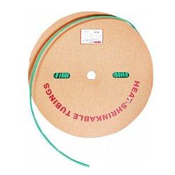 Трубка термоусадочная 2/1, 200м, зеленая, e.termo.stand.roll.2.1.green