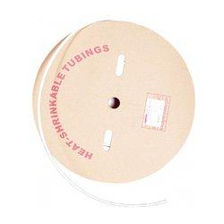 Трубка термоусадочная 8/4, 100м, белая, e.termo.stand.roll.8.4.white