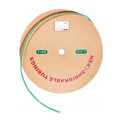 Трубка термоусадочная 12/6, 100м, зеленая, e.termo.stand.roll.12.6.green