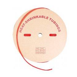 Трубка термоусадочная 12/6, 100м, красная, e.termo.stand.roll.12.6.red