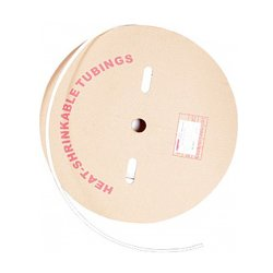 Трубка термоусадочная 12/6, 100м, белая, e.termo.stand.roll.12.6.white