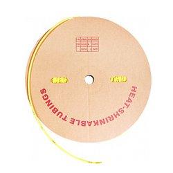 Трубка термоусадочная 12/6, 100м, желтая, e.termo.stand.roll.12.6.yellow