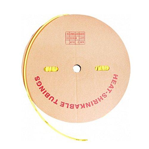 Фото Трубка термоусадочная 12/6, 100м, желтая, e.termo.stand.roll.12.6.yellow Электробаза