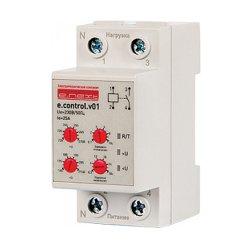 Реле контроля напряжения однофазное 25А e.control.v01