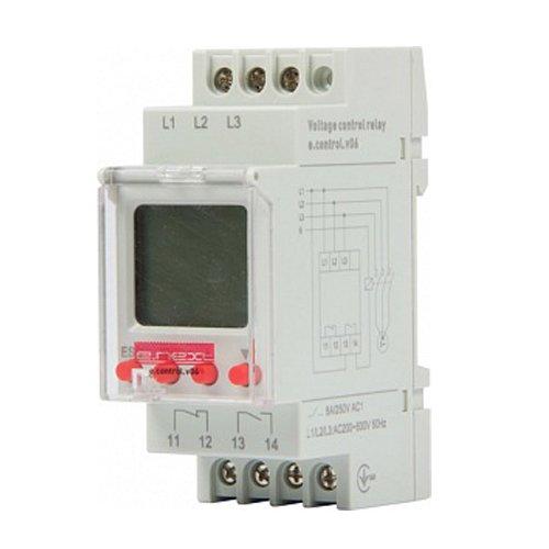 Фото Реле контроля напряжения трехфазное 1,5А цифровое e.control.v06 Электробаза