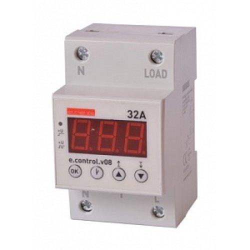Реле контроля напряжения однофазное 32А с индикацией e.control.v08