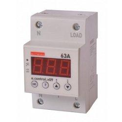 Реле контроля напряжения однофазное 63А с индикацией e.control.v09