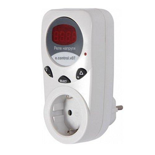 Фото Реле контроля напряжения и тока однофазное 25А с индикацией e.control.v10 Электробаза