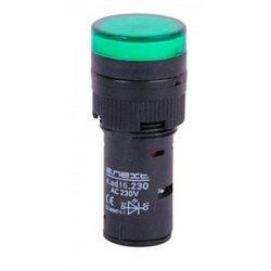 Сигнальная арматура, Ø16мм, 230В АС, зеленая, e.ad16.230.green