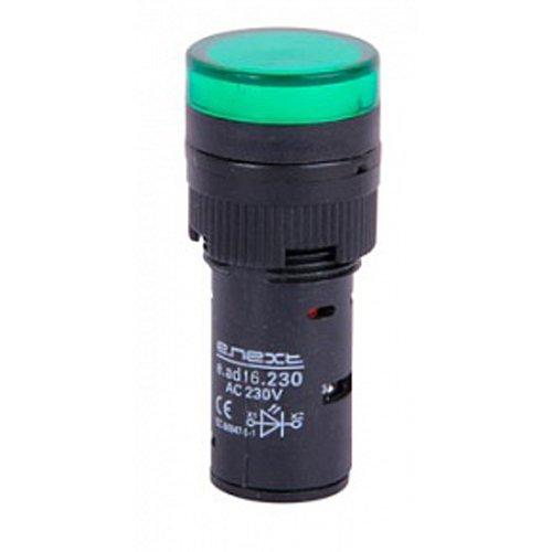 Фото Сигнальная арматура, Ø16мм, 230В АС, зеленая, e.ad16.230.green Электробаза