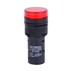 Сигнальная арматура, Ø16мм, 230В АС, красная, e.ad16.230.red