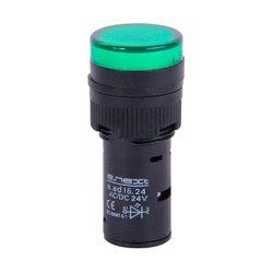 Сигнальная арматура, Ø16мм, 24В АС/DC, зеленая, e.ad16.24.green