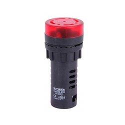 Сигнальная арматура, Ø22мм, 230В АС, красная, e.ad22.230.buzzer.red