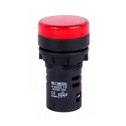 Сигнальная арматура, Ø22мм, 24В АС/DC, красная, e.ad22.24.red
